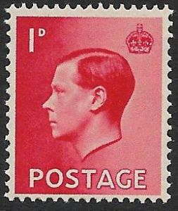 SG458 1d Scarlet Unmounted Mint (1936 Edward VIII Stamps)